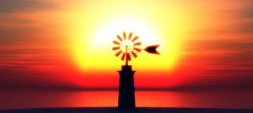 Traditional windmill in Mallorca, Balearic Islands Stock Image