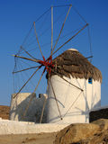 Traditional windmill Mykonos Greece Stock Images
