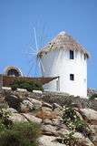Traditional windmill in Mykonos Royalty Free Stock Image