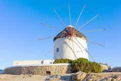 Traditional windmill in Mykonos Royalty Free Stock Photos