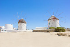 Traditional windmill in Mykonos Stock Image