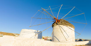 Traditional windmill in Mykonos Royalty Free Stock Photo
