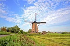 Traditional windmill in  the Netherlands Royalty Free Stock Photo