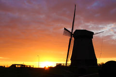 Traditional windmill in Netherlands Stock Photography