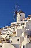 Traditional Windmill in Oia Royalty Free Stock Images