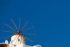 Traditional windmill in Oia, Santorini Stock Photography