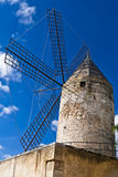 Traditional windmill in Palma de Majorca, Spain. Royalty Free Stock Photography