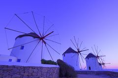 Traditional windmill at twilight Royalty Free Stock Photos
