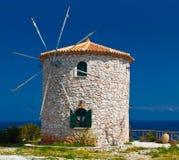Traditional windmill at Zakynthos, Greece Stock Photography