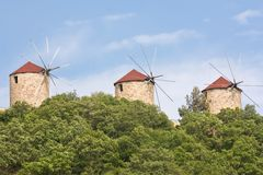 Traditional windmills Royalty Free Stock Photo