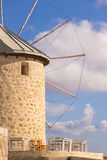 Traditional windmills in Alacati, Izmir province, Turkey Royalty Free Stock Images