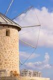 Traditional windmills in Alacati, Izmir province, Turkey Royalty Free Stock Image