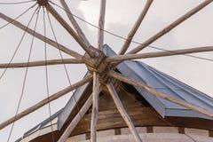 Traditional windmills in Alacati, Izmir province, Turkey Stock Image
