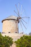 Traditional windmills in Alacati, Izmir province, Turkey Stock Images