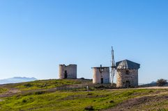 Traditional windmills in Bodrum Royalty Free Stock Photos