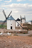 Traditional windmills in Consuegra, Spain Royalty Free Stock Images