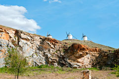 Traditional windmills in Consuegra, Toledo, Spain Royalty Free Stock Photos