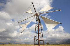 Traditional windmills in Lasithi plateau. Crete. Greece Royalty Free Stock Photos