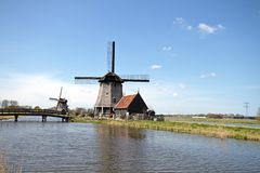 Traditional windmills in the Netherlands Royalty Free Stock Image