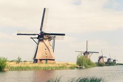 Traditional windmills in Netherlands Royalty Free Stock Photos