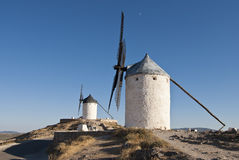 Traditional windmills in Spain Stock Images