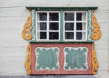 Traditional window from Austria at winter Royalty Free Stock Image