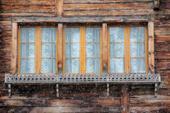 Traditional window from Austria at winter Royalty Free Stock Photos