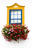 Traditional window  with bright colors Royalty Free Stock Photo