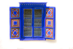 Traditional window. Fresh painted window of old romanian house Stock Photos