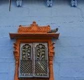 Traditional window of Indian palace royalty free stock photos