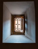 The traditional window of Kasbah de Taourirt from inside out Stock Images