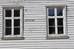 Traditional window in Norway Royalty Free Stock Photo
