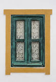 Traditional window of Portuguese homes. Stock Photos