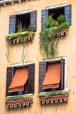 Traditional window of typical old Venice building Royalty Free Stock Photography