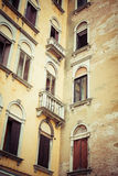 Traditional window of typical old Venice building Royalty Free Stock Photo