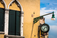 Traditional window of typical old Venice building Royalty Free Stock Photos