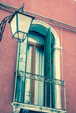 Traditional window of typical old Venice building Royalty Free Stock Image