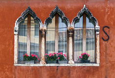 Traditional window in Venice stock photos