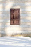 Traditional window with wooden shutters. Royalty Free Stock Photos