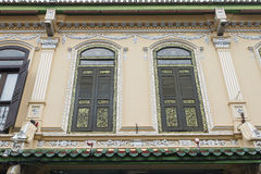 Traditional Windows on Peranakan House Stock Images