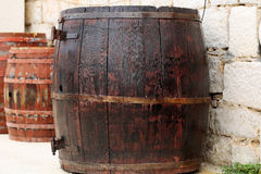 Traditional wine barrels Stock Photo