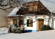 Traditional wine cellar in winter Stock Photography