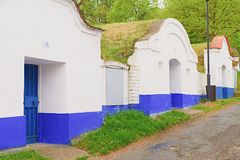 Traditional Wine Cellars - Plze, Petrov, Czech Republic, Europe. Wine lore and folklore. Moravian wine cellars Royalty Free Stock Photos