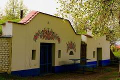 Traditional Wine Cellars - Plze, Petrov, Czech Republic, Europe. Wine lore and folklore. Moravian wine cellars.  Stock Image