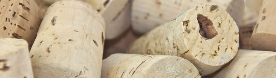 Traditional wine corks scattered Royalty Free Stock Photography