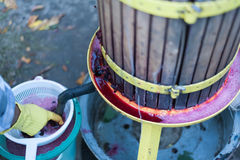Traditional Wine Making Royalty Free Stock Images