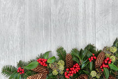 Traditional Winter Border Stock Image