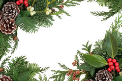 Traditional Winter Border Royalty Free Stock Images