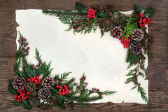 Traditional Winter Border Royalty Free Stock Image