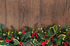 Traditional Winter Border Stock Photos